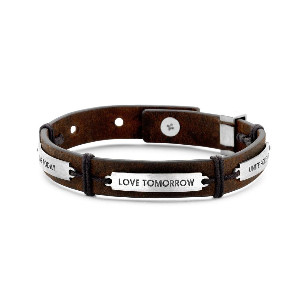 Live Love Unite Leather Bracelet