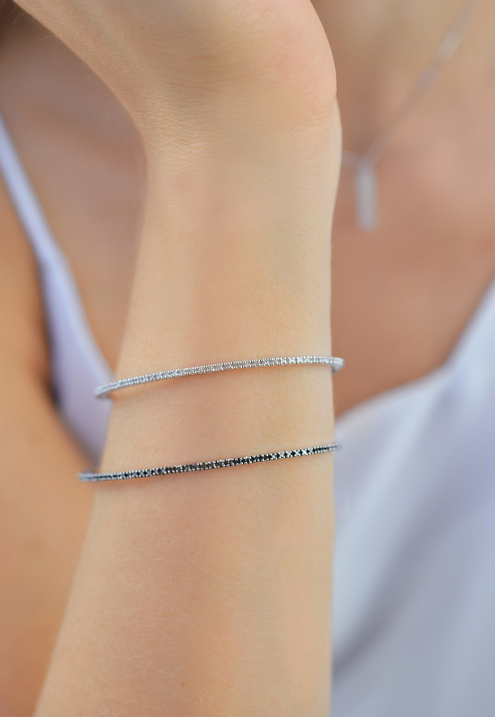 Black Endless Diamond Bracelet