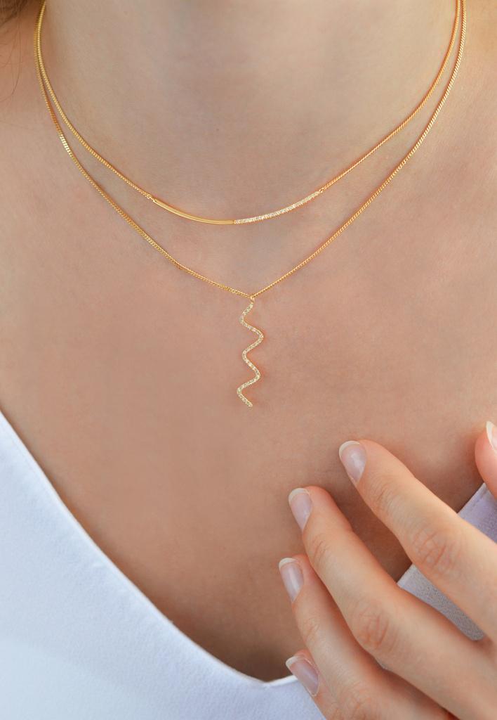 Linea Necklace White