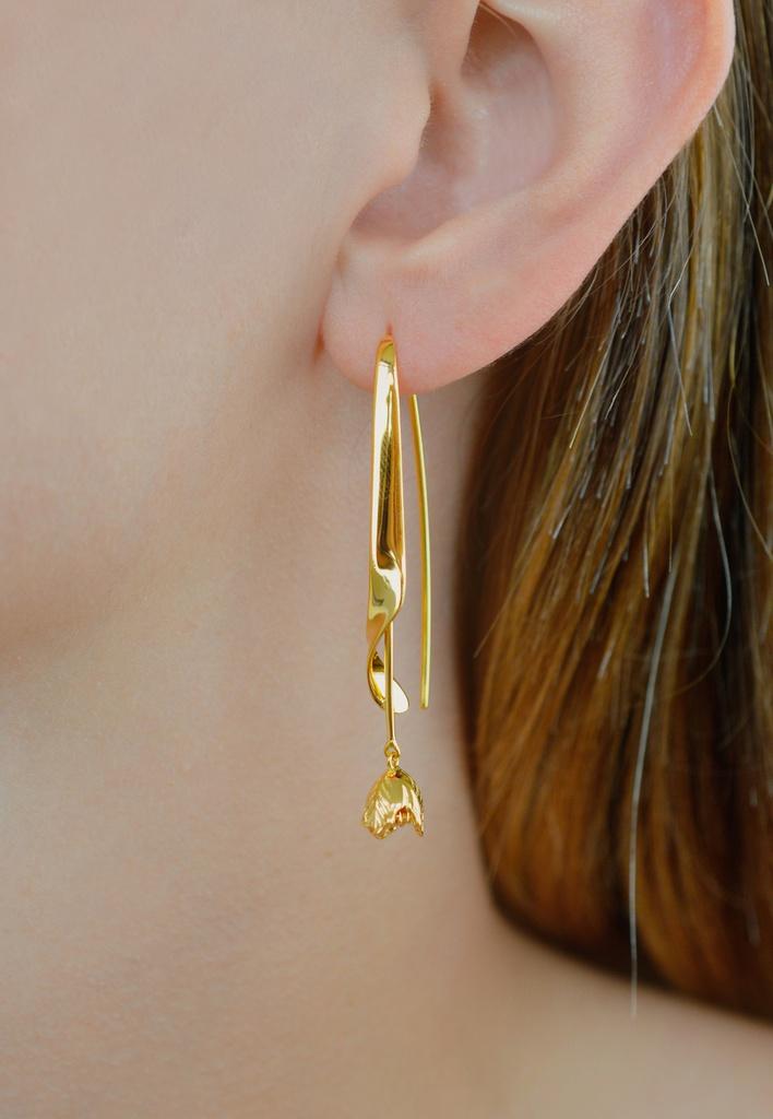 Black Parrot Earrings