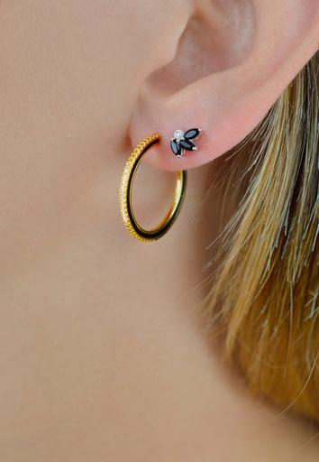 Dark Endless Diamond Earring (M)