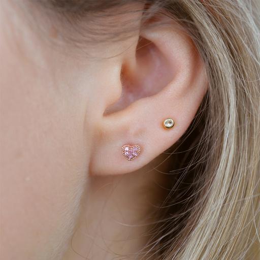 Attraction Heart Earring (Single)