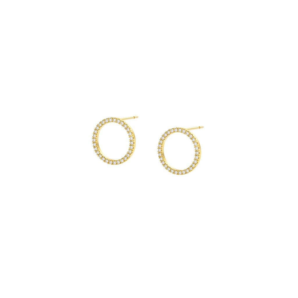 Ellipse White Earring (S)