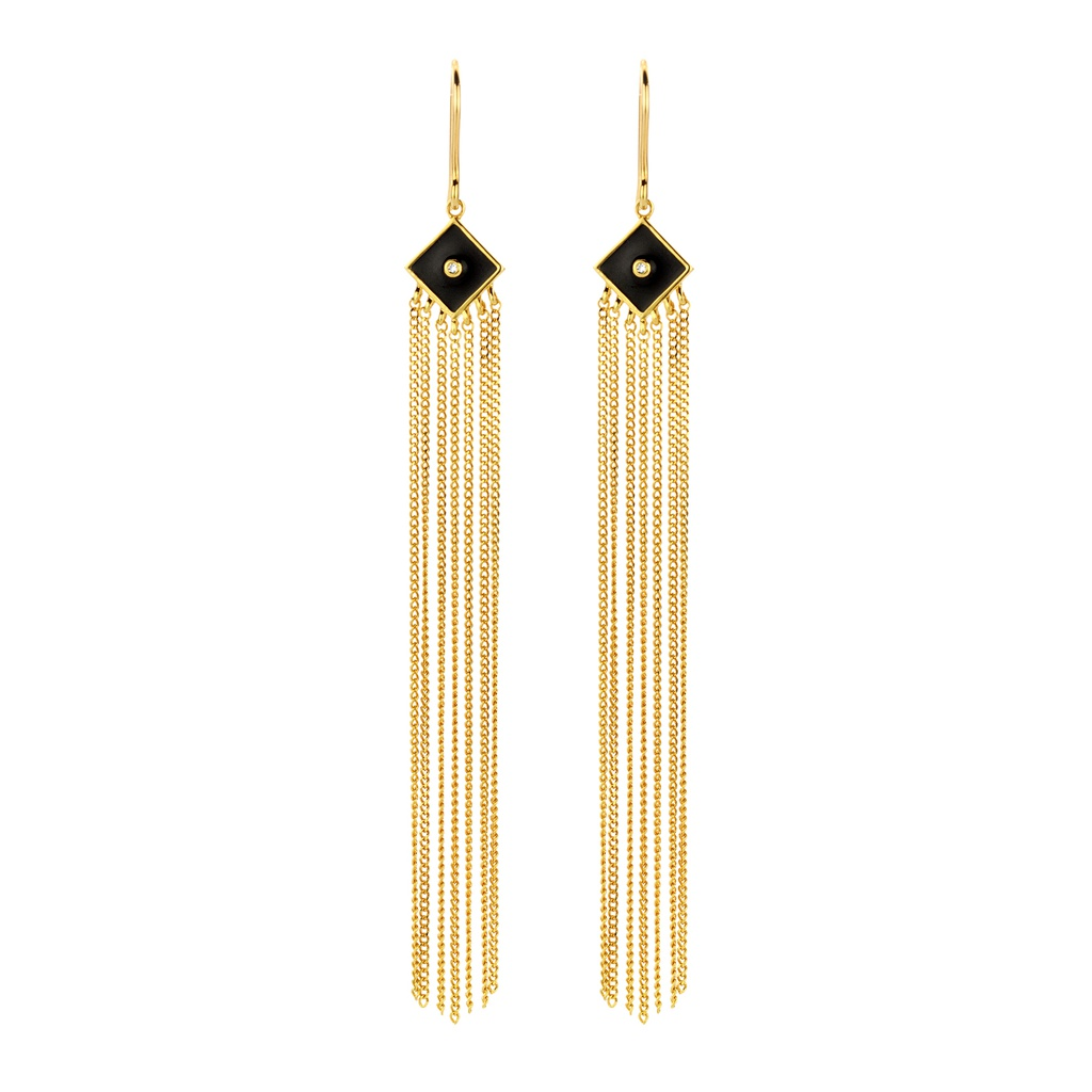 Black Dahlia Earrings