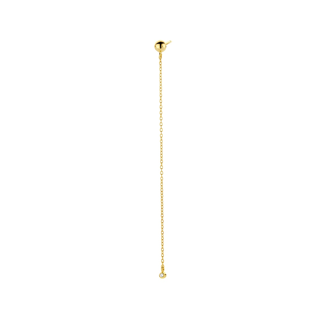 One Diamond Chain (Single) Earring