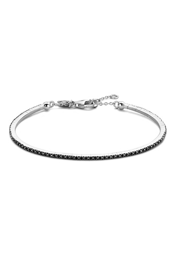 [M470] Black Endless Diamond Bracelet