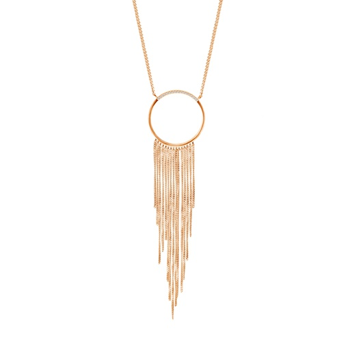 [M1035] Star (Circle) Necklace