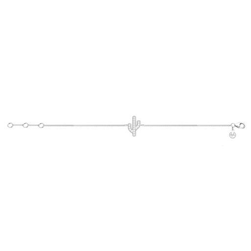 [M1271] Sparkling Diamonds Cactus Bracelet