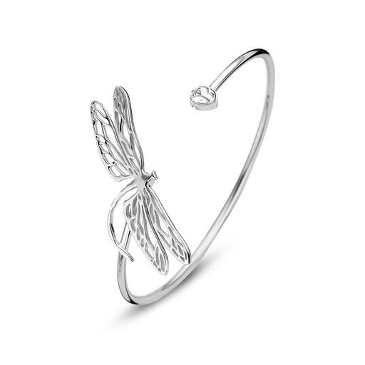 [M1369-1S7-SXX] Dragonfly Silver Cuff