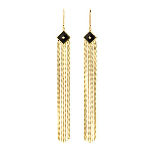 [M1438] Black Dahlia Earrings