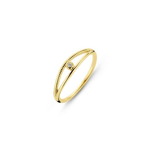 [M1545] Diamond Twist Ring