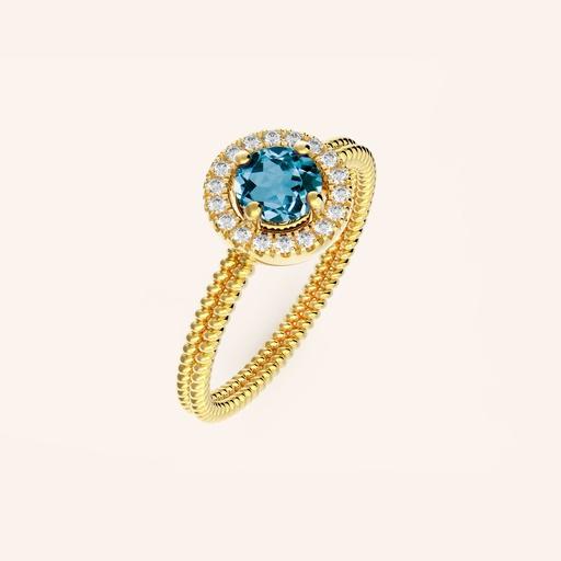 [M1595] Diamond Aurora Ring