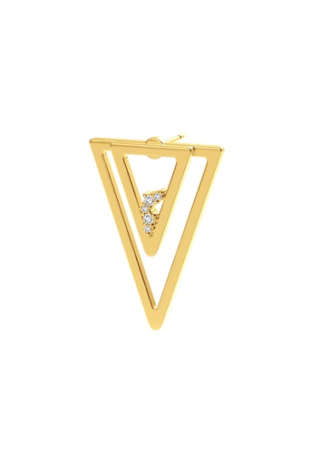 [M1718] Triangle Unity (Single) Earring