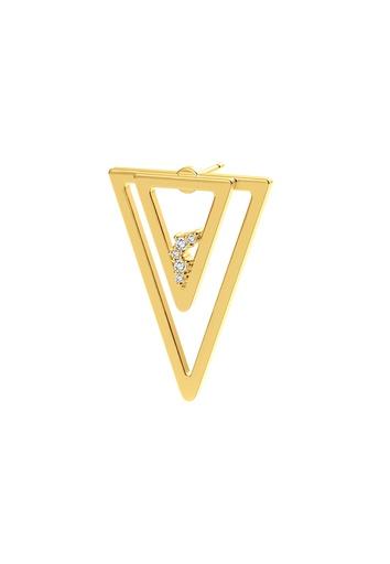 [M1718] Triangle Unity (Single) Earring