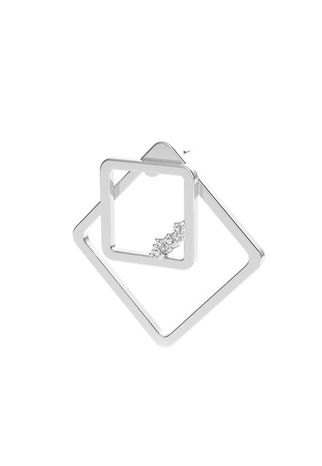 [M1719] Square Unity (Single) Earring